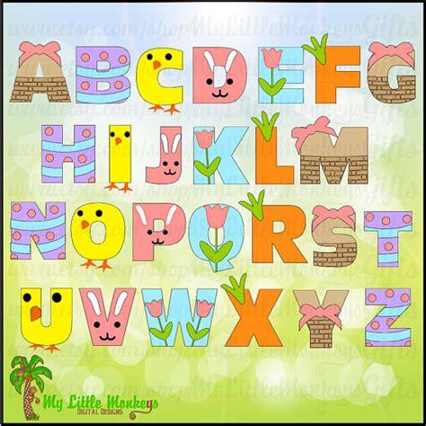 easter themed names easter spring alphabet digital file instant download