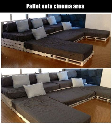 theatre with couches diy pallet movie theater