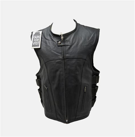 leather biker vest updated tactical swat style leather vest bikers gear