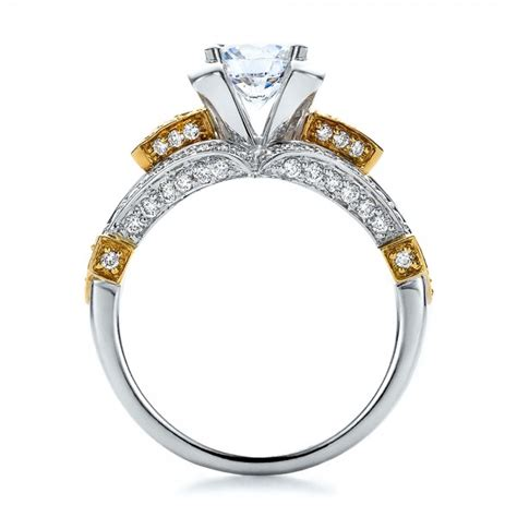 two tone engagement rings two tone gold and engagement ring vanna k 100273 bellevue seattle joseph jewelry