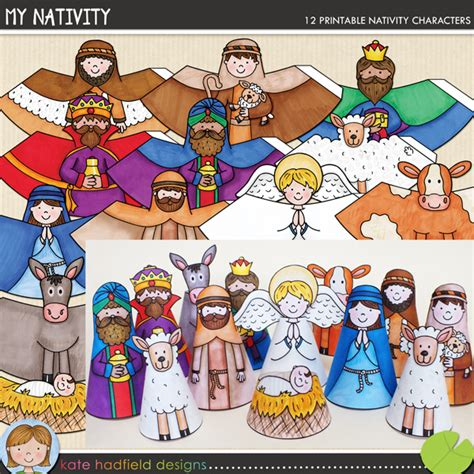 printable nativity scene characters the lilypad crafts my nativity