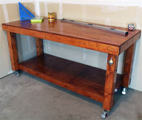 homemade work bench diy simple workbench project woodworking bench