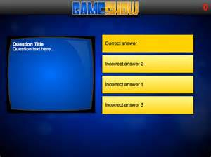 quiz show powerpoint templates html 5 gameshow challenge elearning templates
