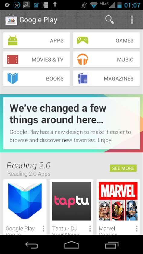 Where Android Stores Screenshots by Play Store 4 0 Screenshot Shows New Front Page