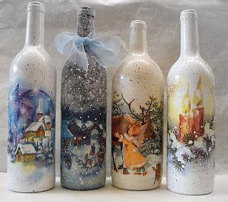 decoracion de botellas de vidrio con servilletas resultado de imagen para decoracion de botellas de vidrio