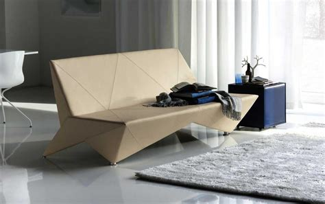 Unique Upholstery by Origami Modern Leather Sofa Bed Decobizz