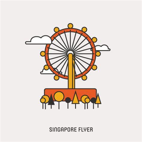 icon design singapore icons of singapore singapore flyer art and design