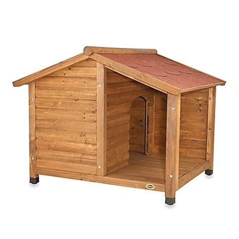 dog house with covered porch buy trixie medium rustic dog house with covered porch from bed bath beyond