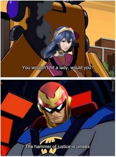 Captain Falcon Memes - lucina vs captain falcon by dr l3utt 53x 69 meme center