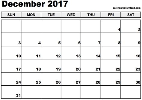 Calendar November 2017 And December 2017 December 2017 Calendar Weekly Calendar Template