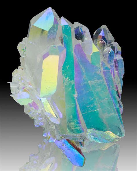 Aura Crystals | 4 4 quot flashy gleaming neon iridescent opal aura quartz