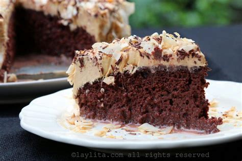 chocolate tres leches cake with dulce de leche frosting laylita s recipes