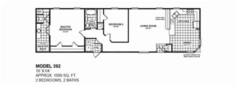 2 bedroom 1 bath mobile home floor plans 2 bedroom 2 bath single wide mobile home floor plans