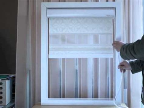 how mary layered roman blinds and curtains in her bedroom elite sunshade open flower double layer blind m4v youtube