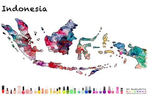 royal design indonesia world map art designs with nail polish