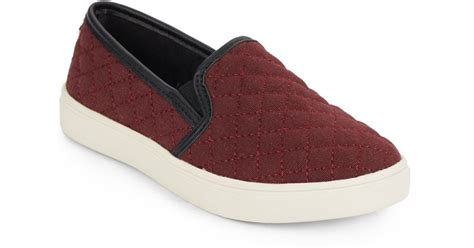 Steve Madden Quilted Slip On Sneakers by Steve Madden Jecntrcq Quilted Slip On Sneakers In Lyst