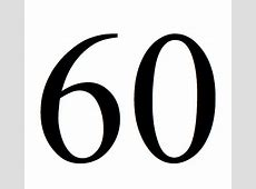 60 Number Sixty