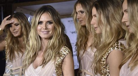 heidi klum surrounds herself with five real life clones at her heidi klum clones herself for her latest wacky halloween