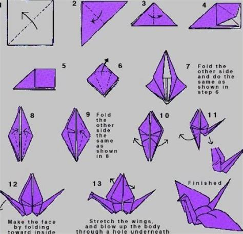 Steps On How To Make A Paper Crane - crane make origami paper sheet 171 embroidery origami
