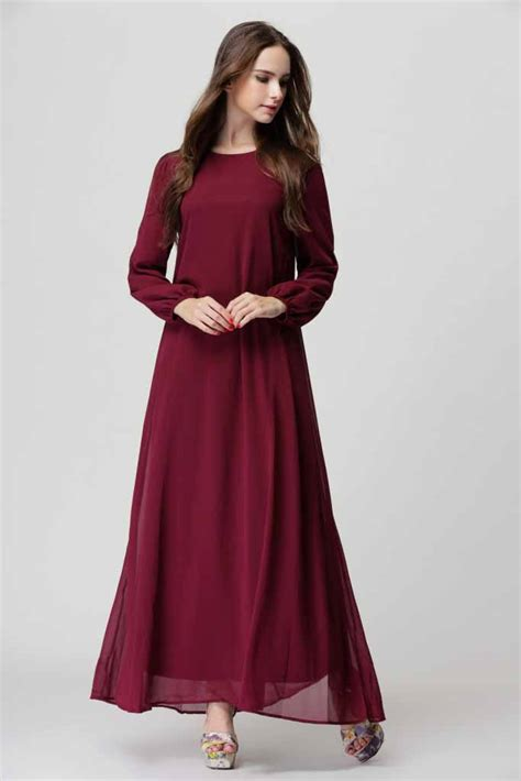 Dress Import Murah 1833 Maroon baju gamis maroon import korea 2016 model terbaru jual