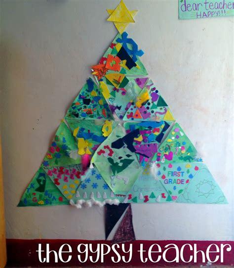 christmas tree craft for kindergarten classroom ideas christmas in my first grade classroom the gypsy teacher