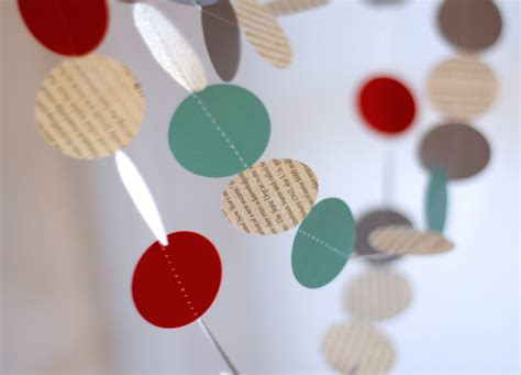 How To Make Garland Out Of Paper - how to make modern paper garland on the cheap