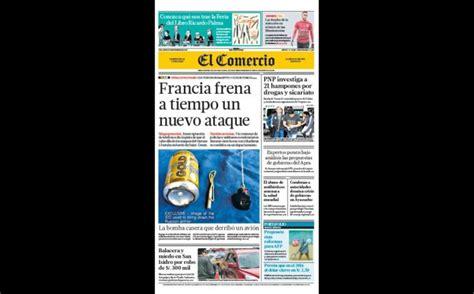 Francia Contra Perú Portadas As 237 Informan Hoy Los Principales Diarios