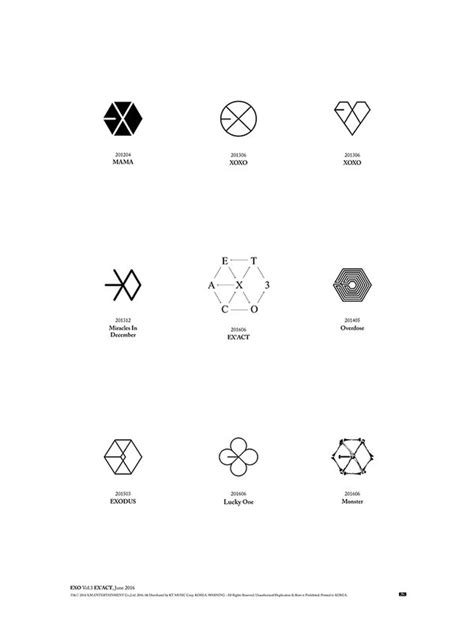 exo logo update exo shares a look back at their logo history ahead
