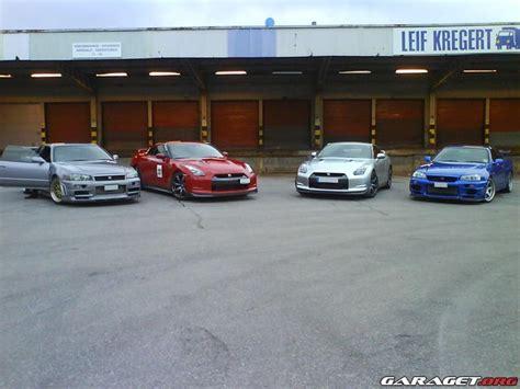 gt mobile sweden nissan gt r r35 vs r34 in sweden 4 cars gt r register