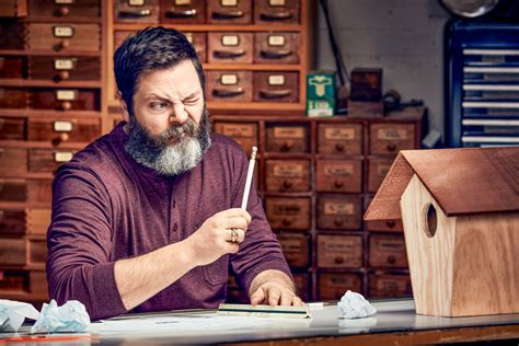 nick offerman woodworking nick offerman is the world s funniest woodworker
