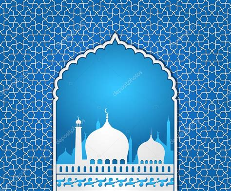 islamic pattern background blue islamic mosque stock vector 169 designtano 50235977