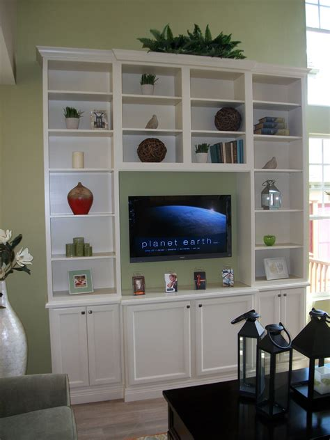 diy tall entertainment center  stock cabinets