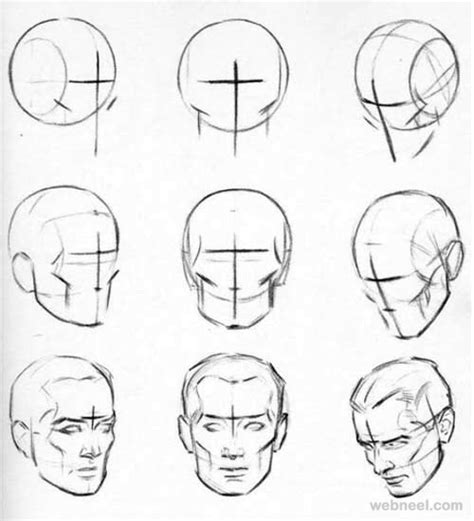 pattern on how to sketch face face drawing 19