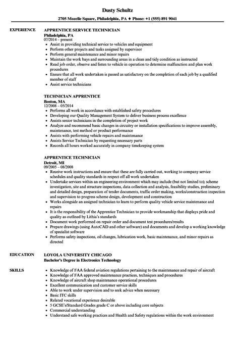 Apprentice Resume computer repair technician resume 1st person search