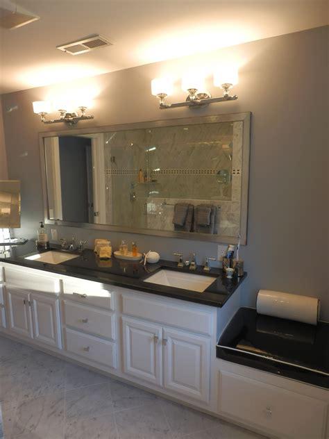 Kitchen Design Centers Stunning Carrara Tiled Bathroom With White Vanity Kitchen Design Center