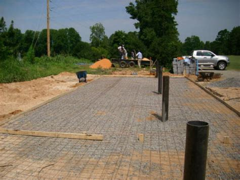 pour concrete garage slabs house foundations basement