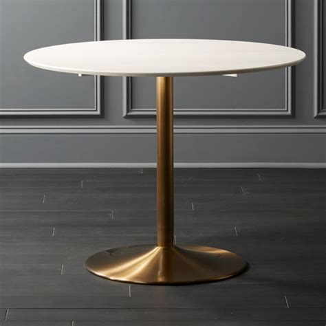 odyssey dining table gold furniture cb2