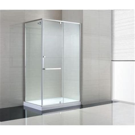 Corner Glass Shower Doors Frameless by Schon 48 In X 79 In Semi Framed Corner Shower