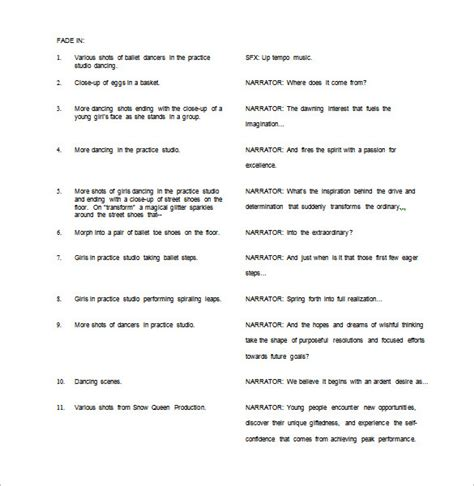 free script template script outline template gallery