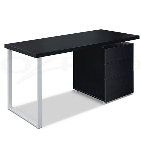 Black Desk Table by Office Computer Desk Table Home Metal Student Study 3