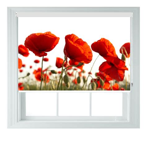 red bathroom blinds poppy themed blackout roller blind for kitchen bathroom