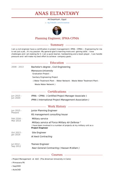 planning engineer resume sles visualcv resume sles database