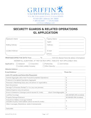 Security Guard Employment Application Template Edit Print Download Fillable Templates In Security Guard Application Form Template