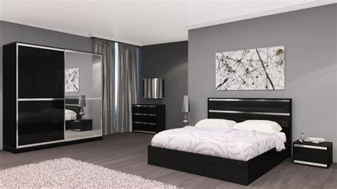 chambre adulte compl 232 te design italien chrono noir laqu 233