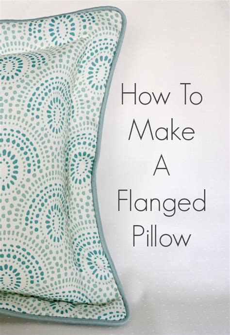How To Sew Pillows how to make a flanged pillow so sew easy