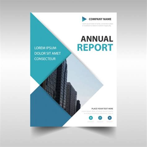 professional report cover page template rectangular professional annual report template vector