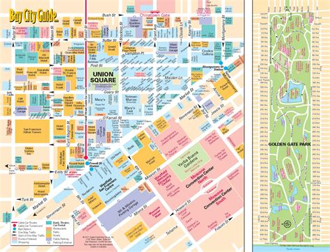 san francisco downtown map union square 0 tourist map union square 0a