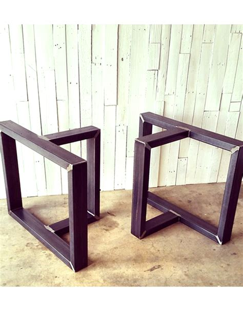 basi in ferro per tavoli coppia di gambe in ferro per base tavolo 75x45 h70