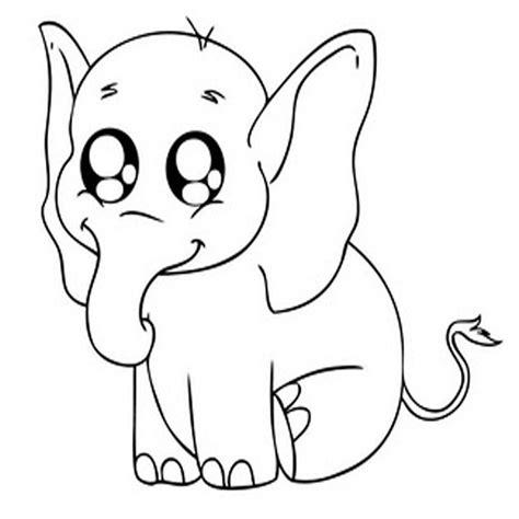 dibujos kawaii para colorear animales 10 dibujos de elefantes infantiles para colorear
