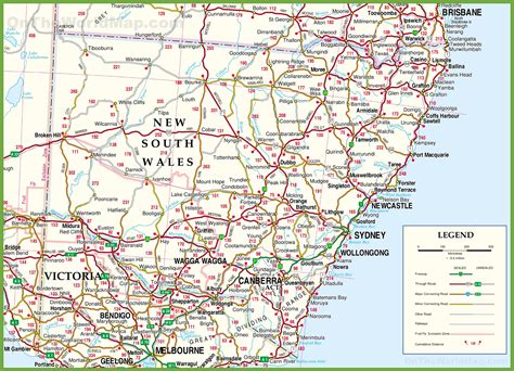 Printable Nsw Road Map | image gallery nsw map